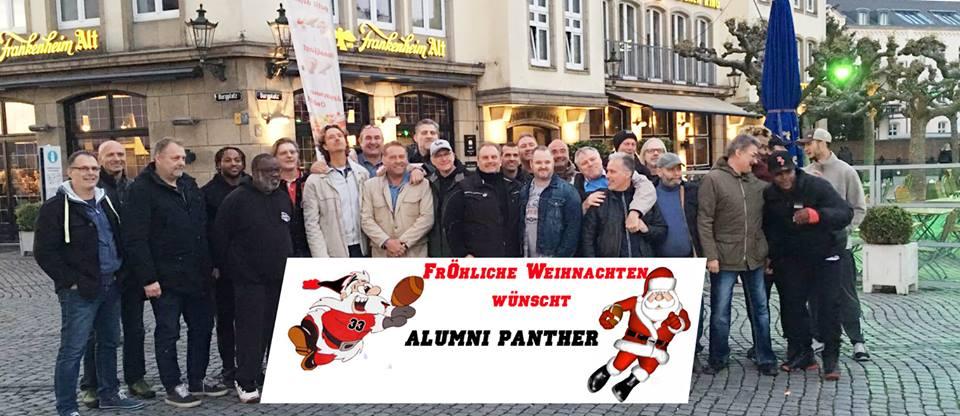 Schöne Weihnachtsfeiertage wünscht Alumni Panther e.V.
