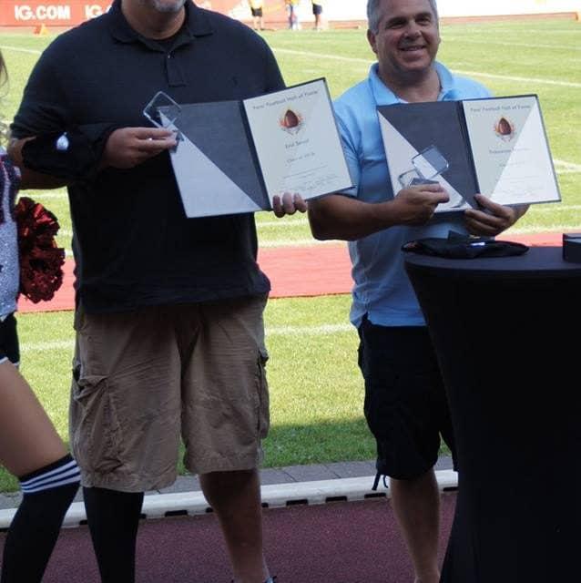 """3 Panther Veteranen in die """"Hall of Fame"""" der Deutschen Football Fans."""